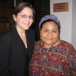 With Rigoberta Menchu