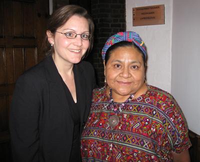 With Rigoberta Menchu